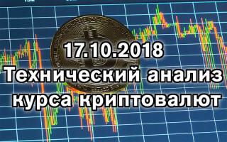 Теханализ по криптовалюте на 17 октября 2018