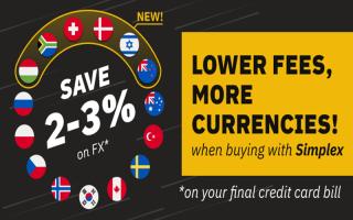 На Binance появилась поддержка покупки крипто через 15 фиатных валют (Simplex)