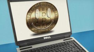 Добыча биткоин на ноутбуке