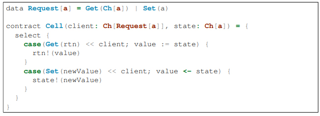 Пример кода Rholang