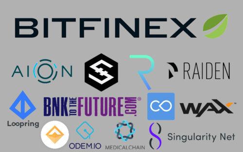 Биржа Bitfinex и новые токены