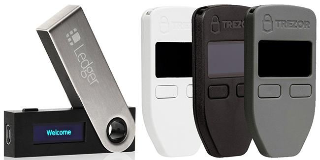 Ledger Nano S и Trezor