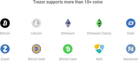 Поддерживаемые криптовалюты