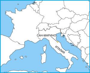 Сан-Марино на карте