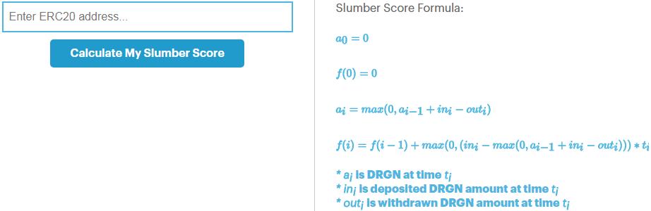Slumber Score Calculator