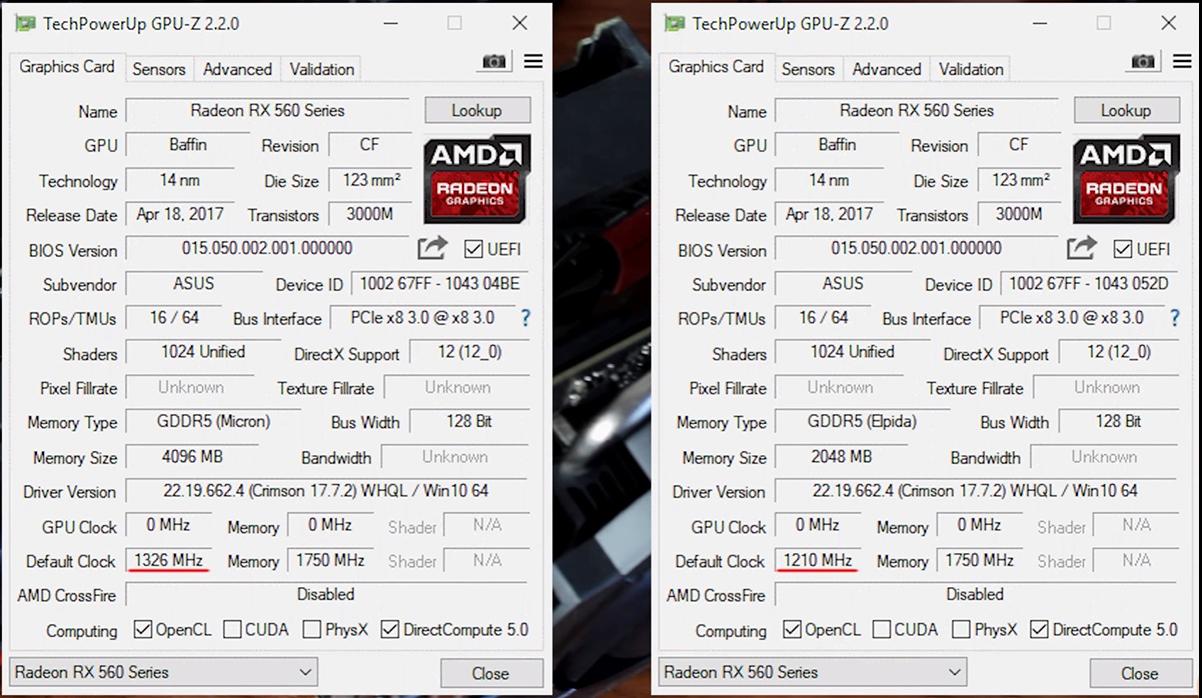 2GB и 4GB версии