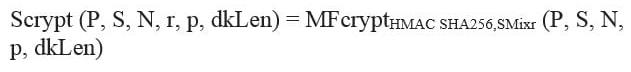 Формула Scrypt