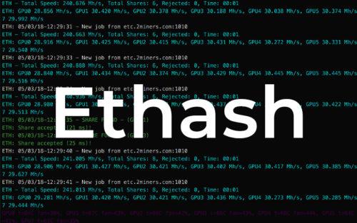 Майнинг по алгоритму Ethash