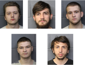 Пятеро арестованных