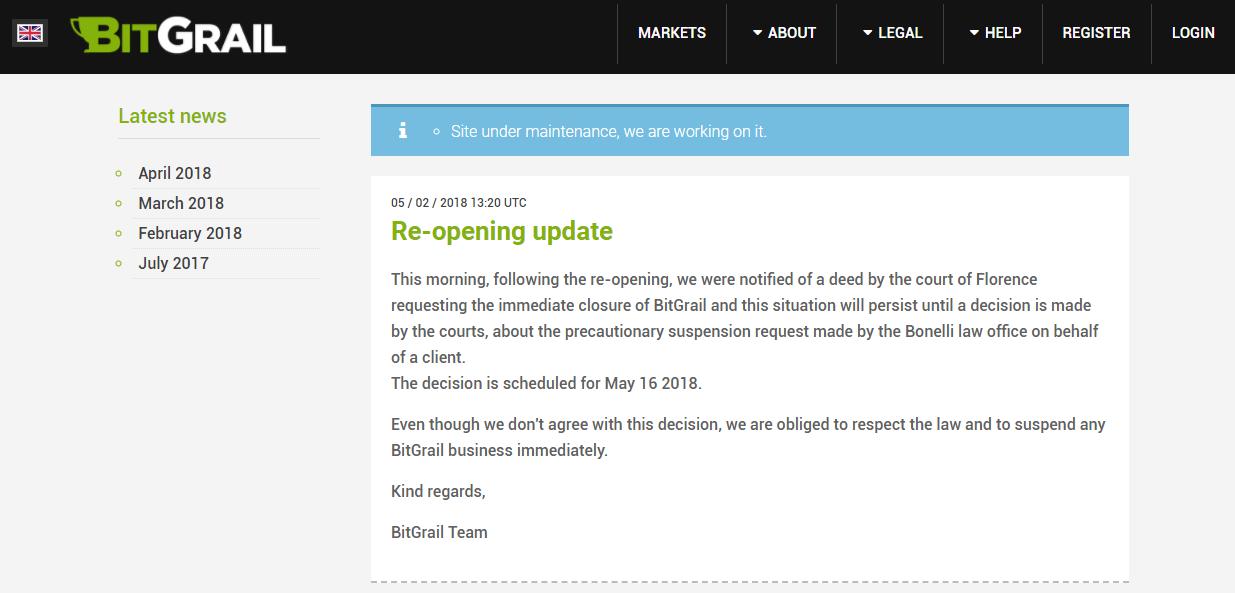 Сообщение от Bitgrail