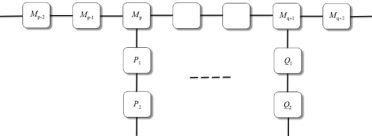 Структура основной и боковых цепочек