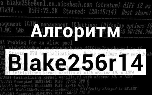 Майнинг по алгоритму Blake256r14