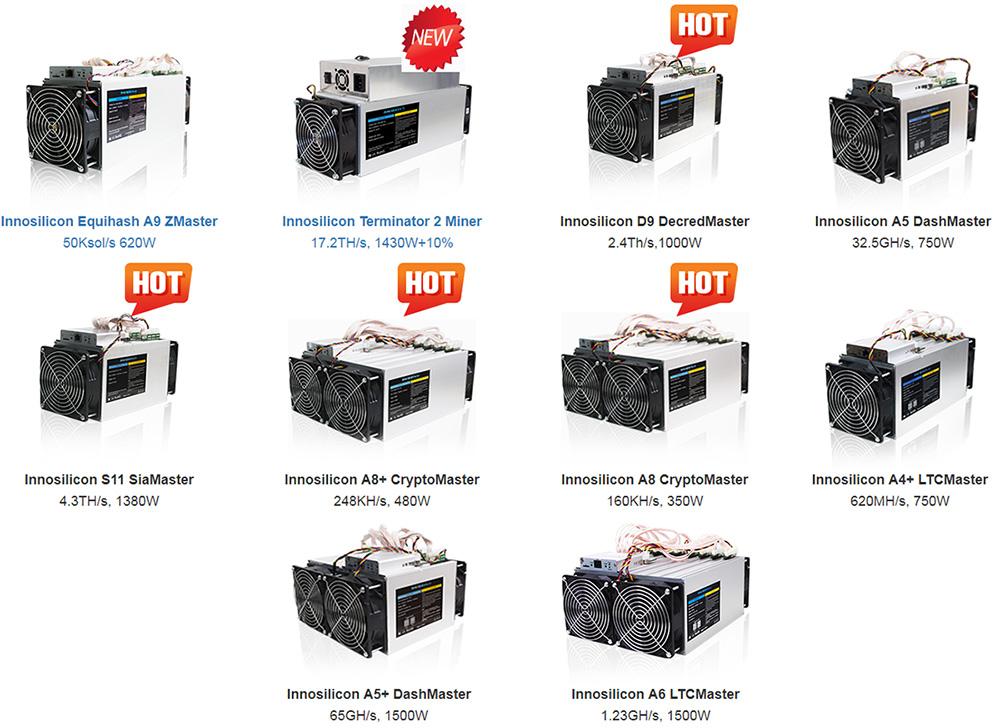 Некоторые модели от Innosilicon