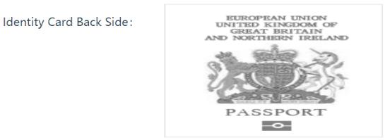 Передняя сторона паспорта