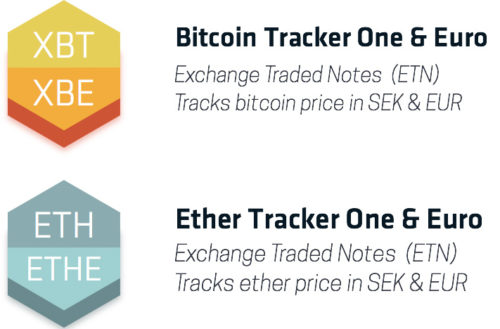Bitcoin Tracker One и Ether Tracker One