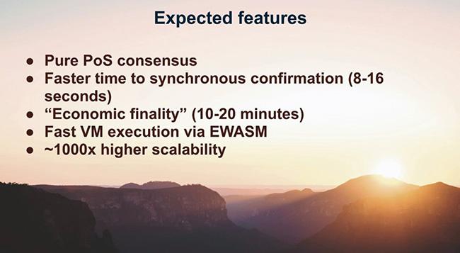Ожидаемые параметры Ethereum2.0