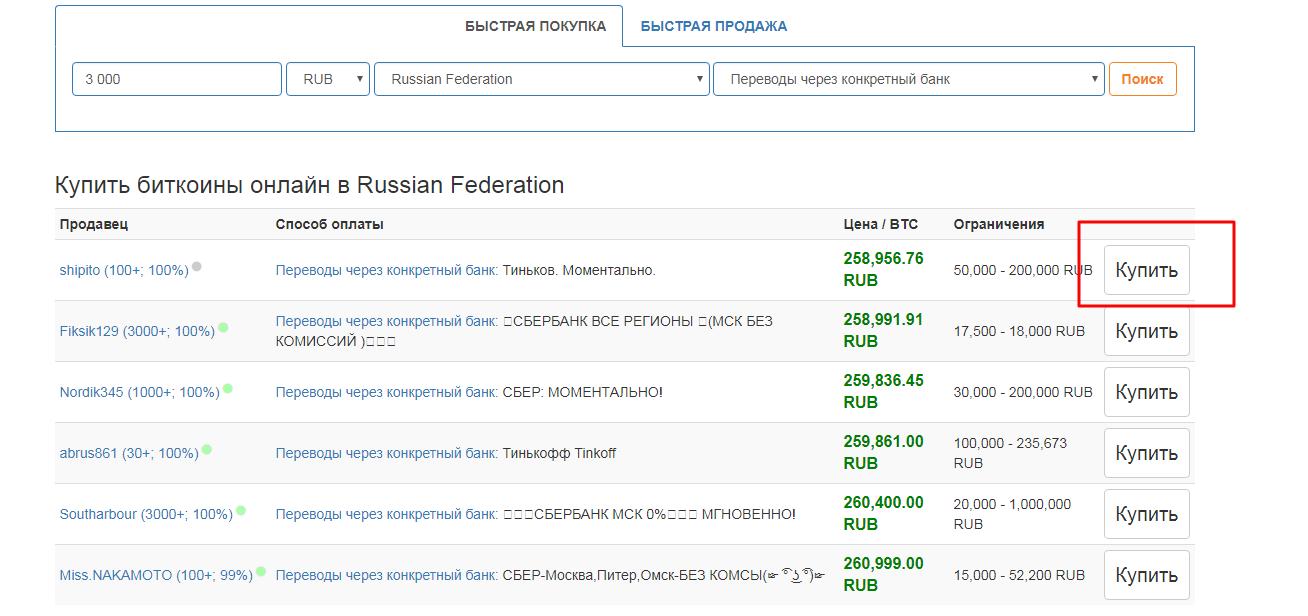 Покупка биткоинов на LocalBitcoins