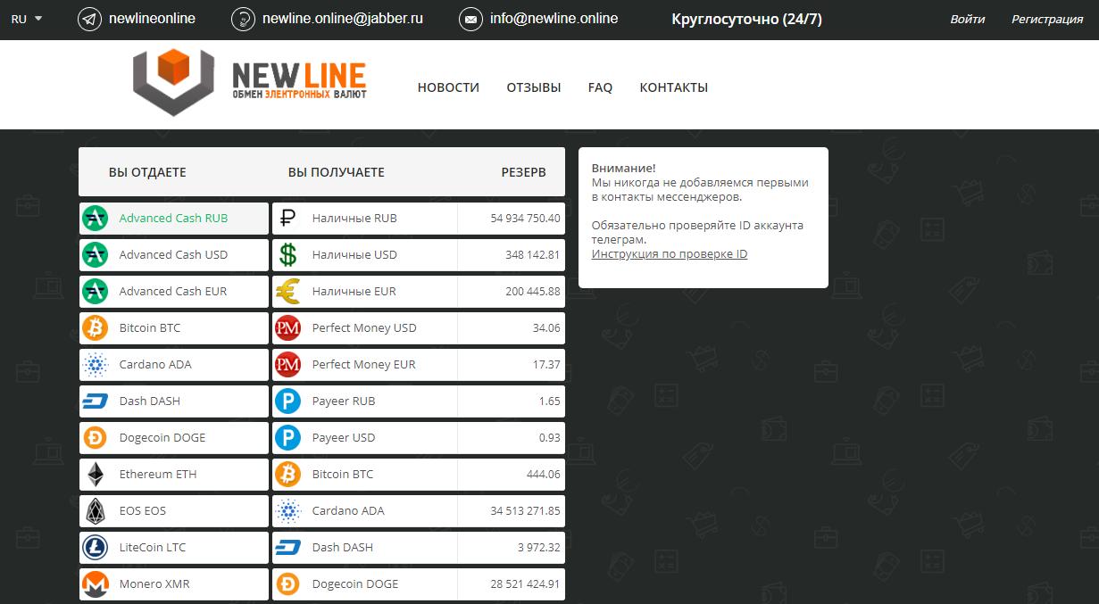 Сайт NewLine